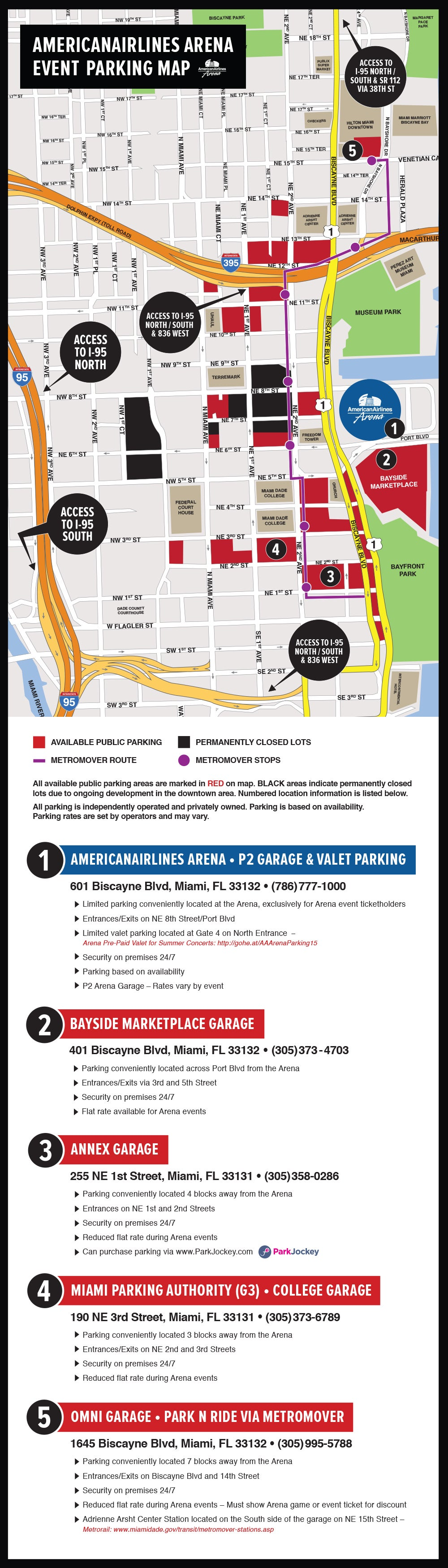 directions & parking | americanairlines arena