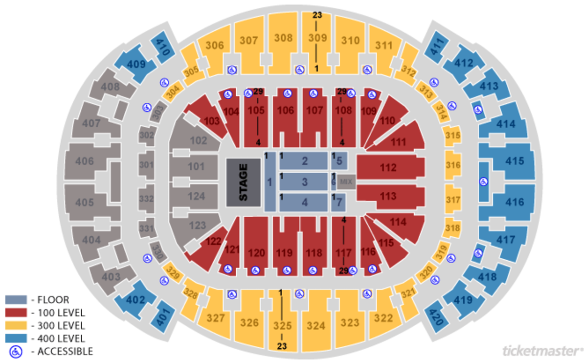 Seating Charts Americanairlines Arena