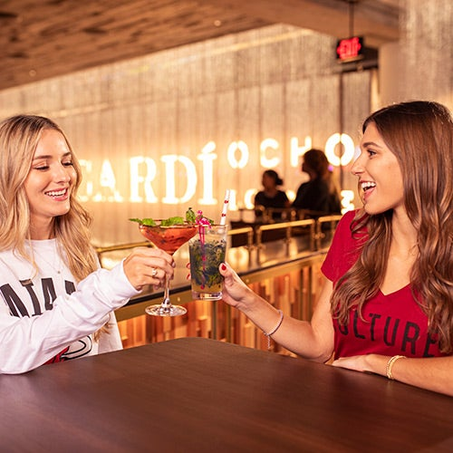 Bacardi Ocho Lounge - Located on the 200-Suite Level